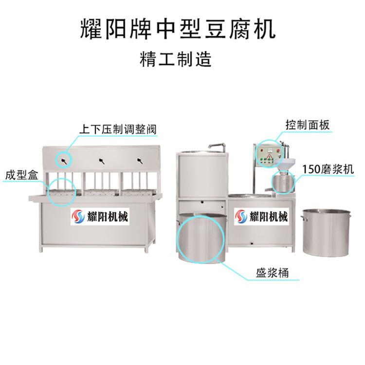 三盒豆腐机出售 耀阳牌豆腐机