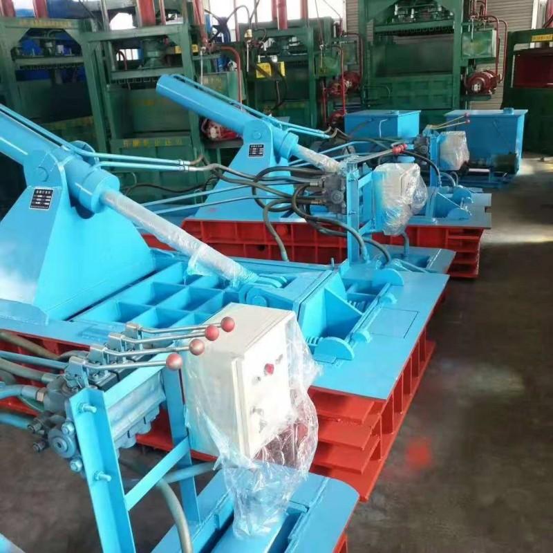 厂家批发卧式金属压块机械 铁屑废旧金属打包机供应