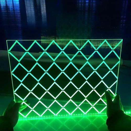 亚克力导光板  激光打标导光板  镭射雕刻