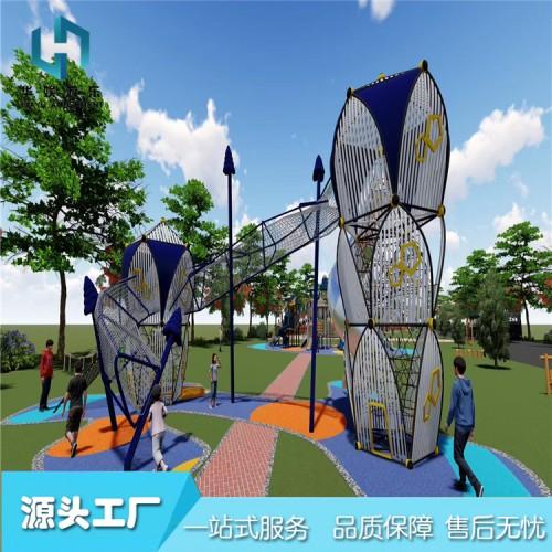 景区拓展训练爬网 大型户外儿童攀爬网设施非标游乐设备厂家定