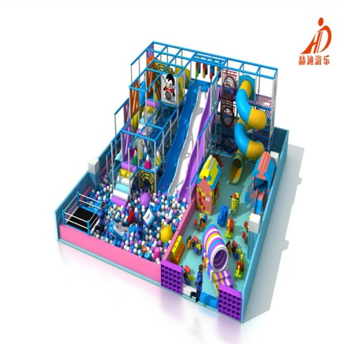 室内儿童乐园游乐场设施 马卡龙主题淘气堡 淘气堡设备