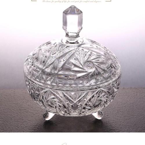 水晶料欧式带盖水晶玻璃 欧式婚庆礼品玻璃器皿 厂家直销