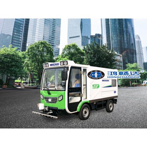 电动高压冲洗车 路面养护地面清洁 鸿畅达 电动清洁设备厂家