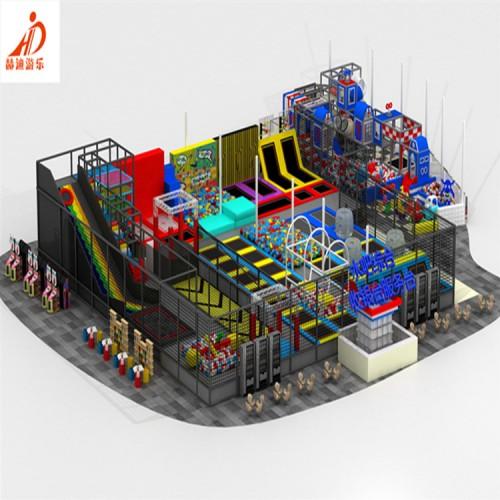 室内游乐场设施 儿童淘气堡 蹦床公园 淘气堡 网红蹦床公园