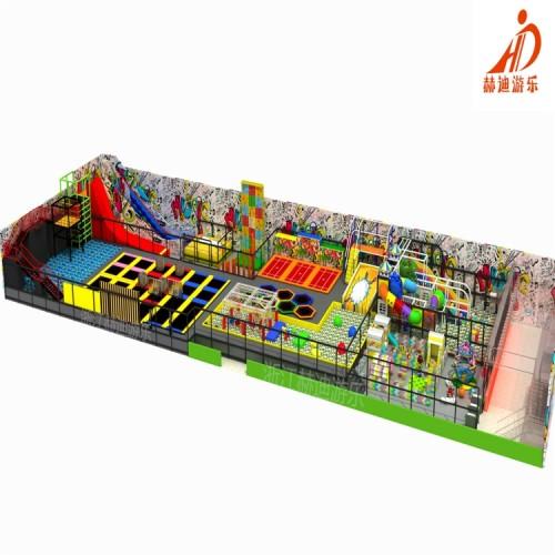 室内淘气堡儿童乐园设备 大型蹦床公园 室内蹦床设备