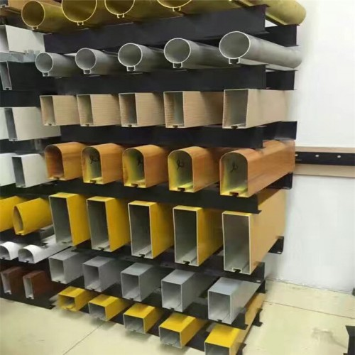 木纹铝方管幕墙-带槽-吊顶-欧百建材
