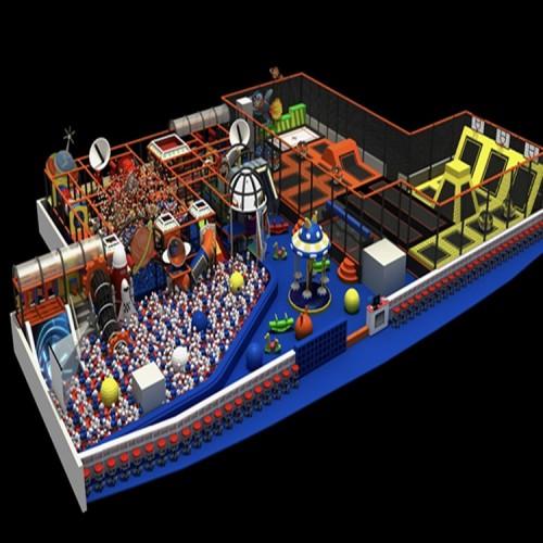 室内儿童乐园游乐场设施 室内淘气堡 室内蹦床公园 蹦蹦床