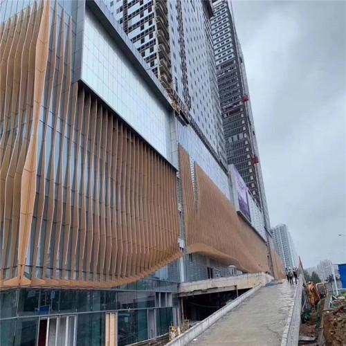 弧形造型铝方通-欧百建材