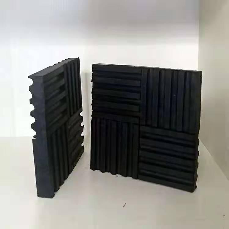 SD型橡胶减振垫隔振垫方形橡胶减振器水泵风机减震