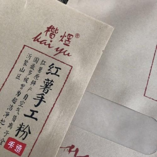 厂家定制开窗牛皮纸袋 红薯手工粉包装袋 粉条 粉丝自封袋
