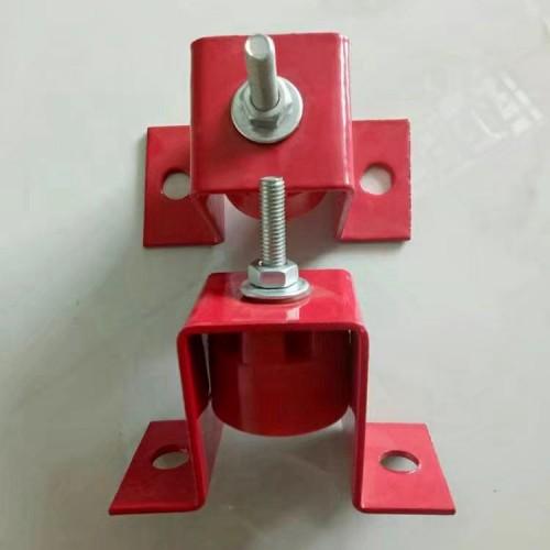 U型吊顶减震器酒吧KTV电影院吊顶隔振器橡胶弹簧减震器