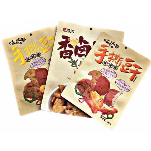 开窗牛皮纸休闲食品包装袋自立牛皮纸自封袋豆干包装袋定做
