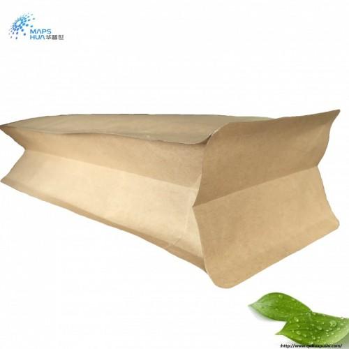牛皮纸八边封平底铝箔茶叶袋 面粉咖啡干果中药密封袋定制包装袋
