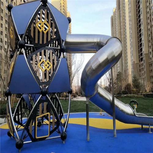 幼儿园小区户外组合滑梯 户外游乐设施非标定制 不锈钢滑梯