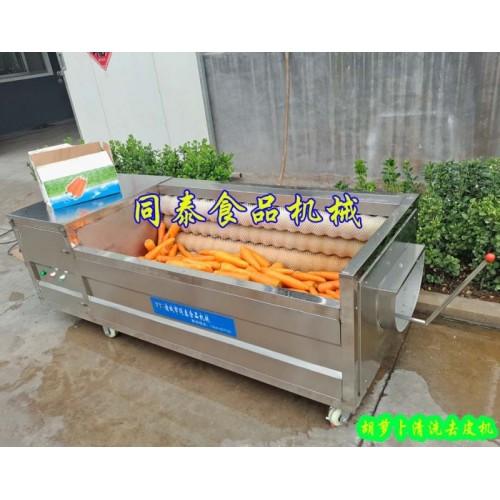 厂家现货直销胡萝卜清洗机 自动洗萝卜机器  果蔬毛刷清洗机
