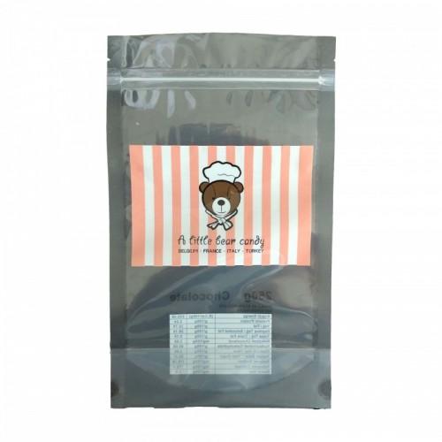 厂家定制巧克力透明拉链包装袋 茶叶拉链自立袋 奶粉饼干密封袋