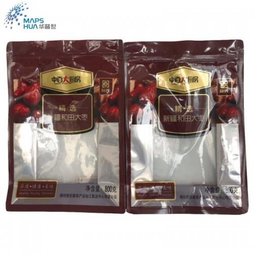 定制开窗大枣包装袋零食镀铝自封自立袋八边封塑料食品包装袋定做