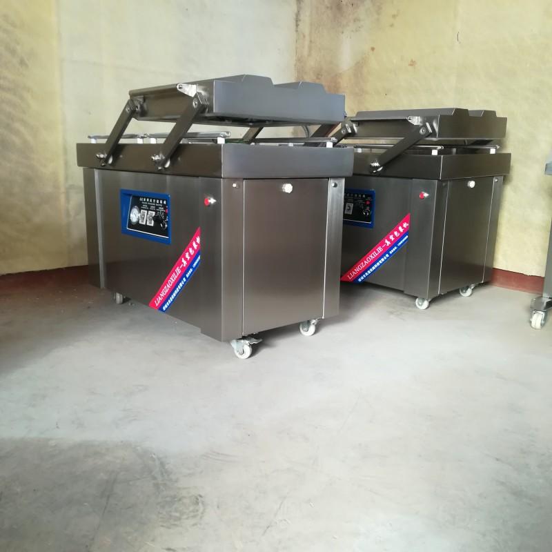 多功能真空包装机  自动摆盖室真空包装机  豆干双室封口设备