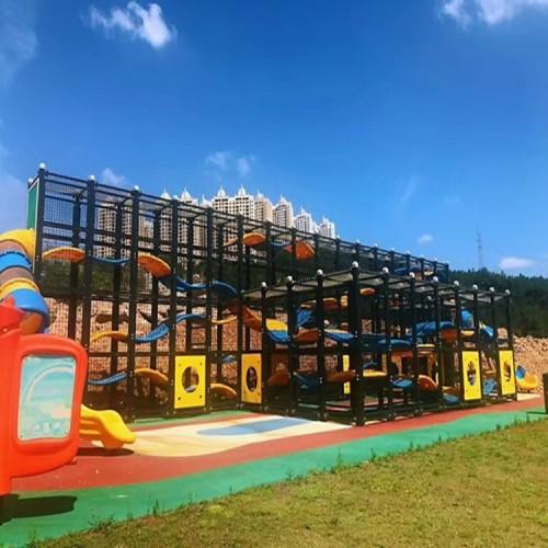 户外小区广场非标游乐设备 户外组合滑梯 幼儿园室内外设施