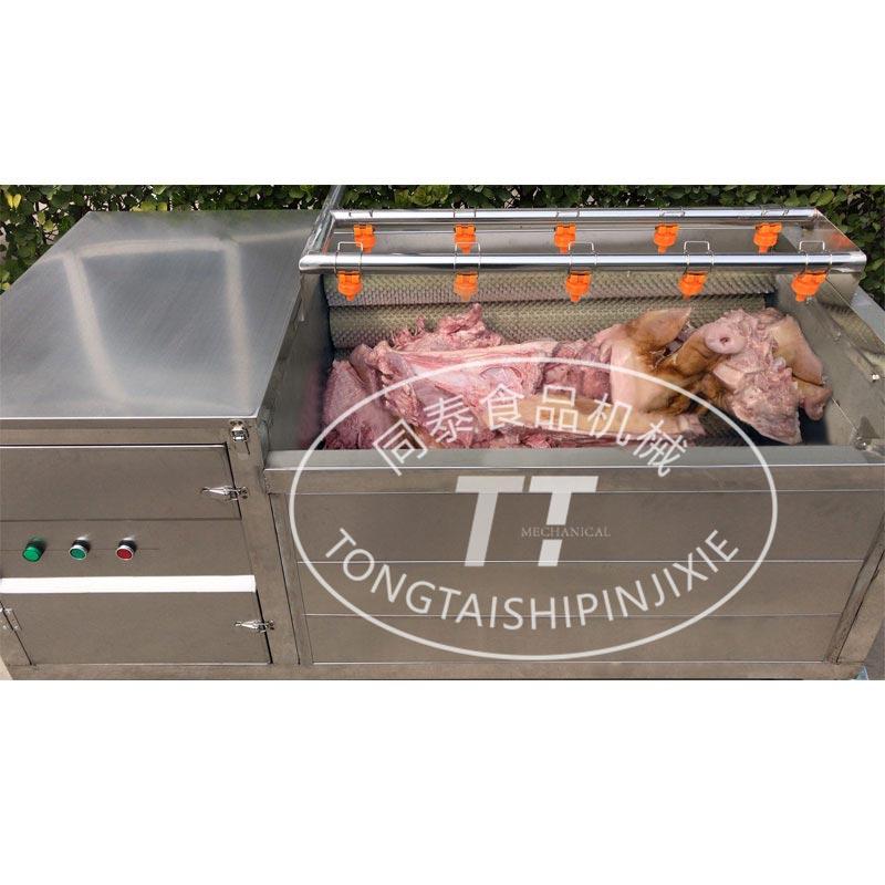 小型猪头清洗机  毛刷辊自动洗猪头机