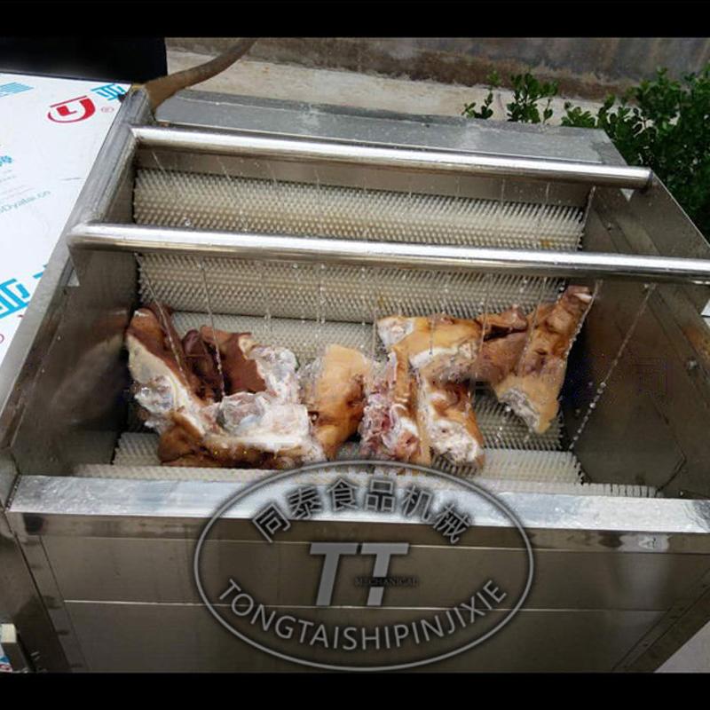 猪头清洗机  毛刷式洗猪头猪蹄猪耳朵清洗机器