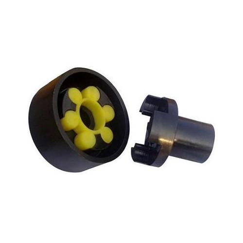 安徽制动梅花弹性联轴器-巨泽传动分体式制动轮梅花形弹性联轴器