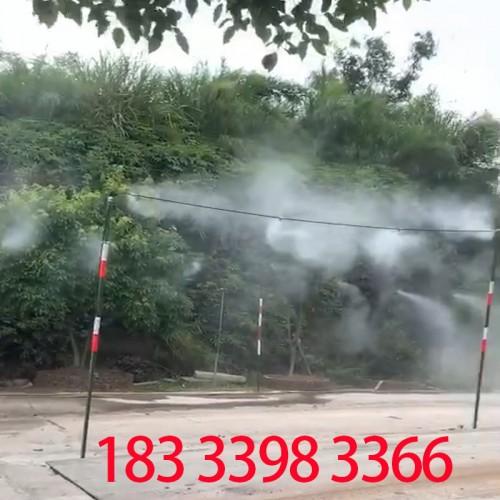 创达建筑工地围挡喷淋系统 围墙喷雾降尘设备