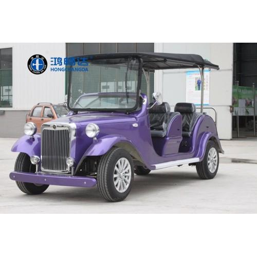 电动老爷车 六人座 紫色 真皮座椅 不同的位置不同的风景