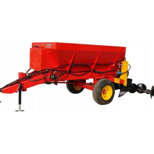 猕猴桃园果树开沟施肥回填一体机,火龙果园专用撒粪机