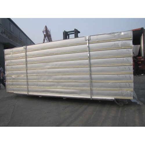 福建岩棉夹芯板/超时代彩钢结构工程/厂家加工瓦楞岩棉夹芯板