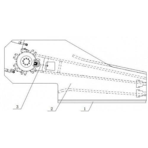刮板机链轮组件图纸