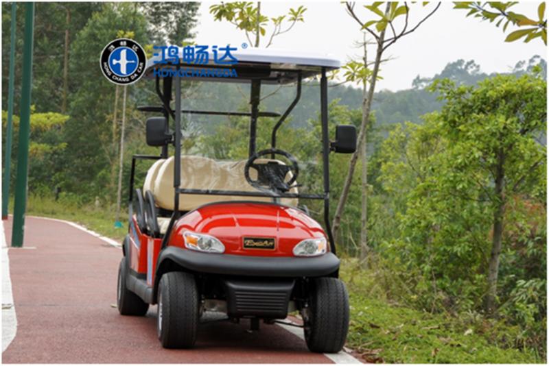 鸿畅达 电动高尔夫球车 高尔夫观光车 电池经久耐用