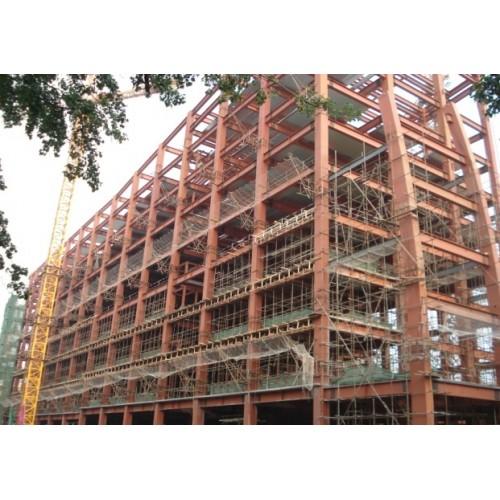 河南彩钢钢构制作施工/福鑫腾达厂家定做钢结构商场、车库出入口
