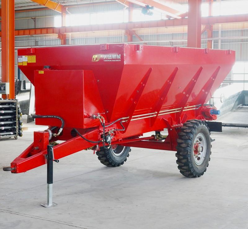 秋季液压有机肥粪肥撒粪机 土杂肥撒肥车 牵引式施肥机
