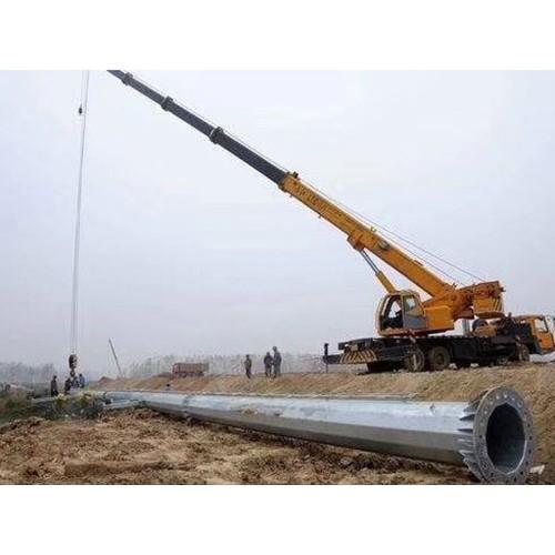 山西太原电力钢杆打桩施工「森瑞达钢杆」电力钢杆求购