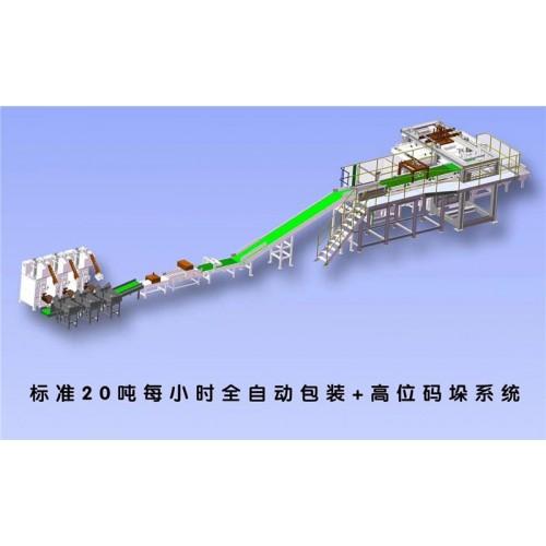 郑州码垛机托盘,25kg粉体码垛生产线