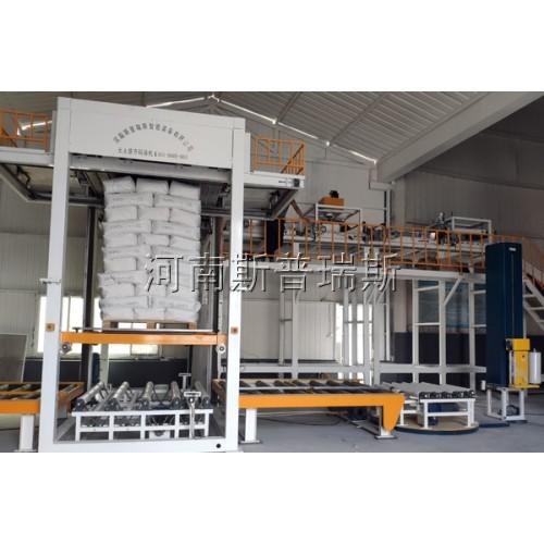 干粉砂浆自动码垛生产线