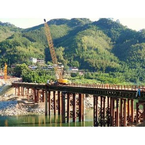 陕西西安钢便桥「沧顺路桥」贝雷片行业制造