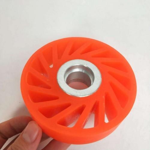 聚氨酯胶轮厂家 聚氨酯包胶胶轮 耐磨工业机械胶轮