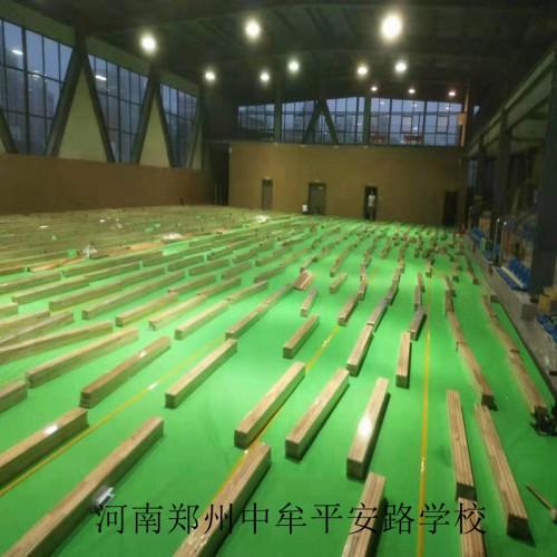 运动实木篮球馆专用枫桦木双龙骨结构木地板安装