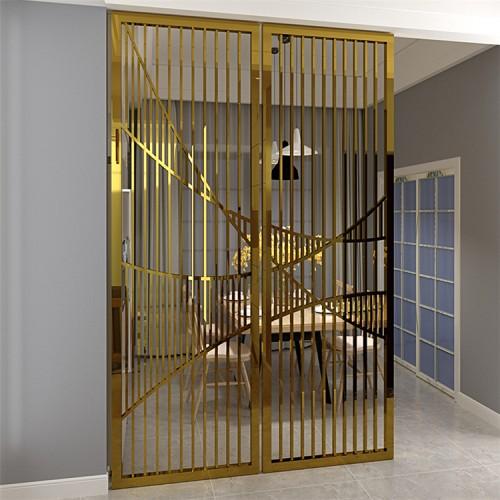 客厅不锈钢隔断 金属隔断 诺毅金属制品