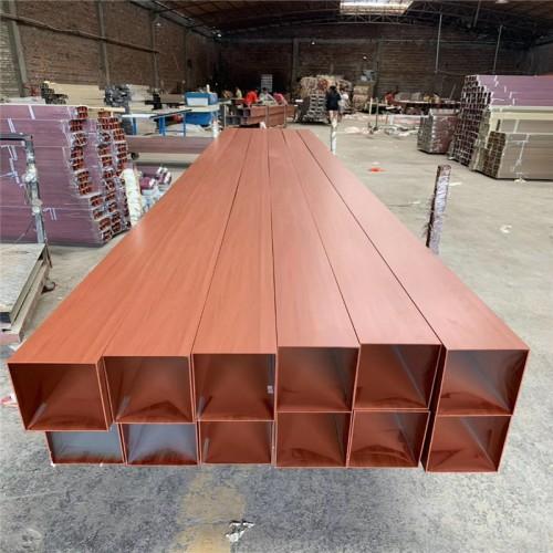 木纹铝方管做隔断怎么固定