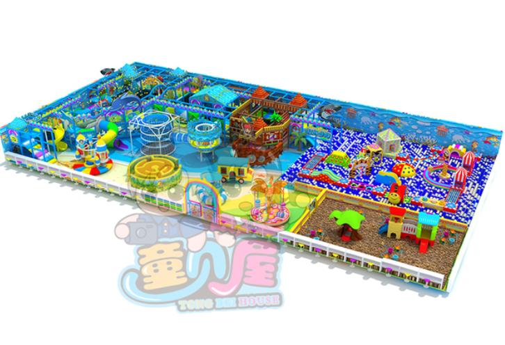 童贝屋恐龙乐园,海洋球池大滑梯,蹦床