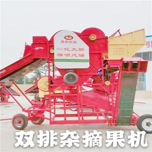 干湿两用双排杂花生摘果机 大型排杂排花生摘果机厂家