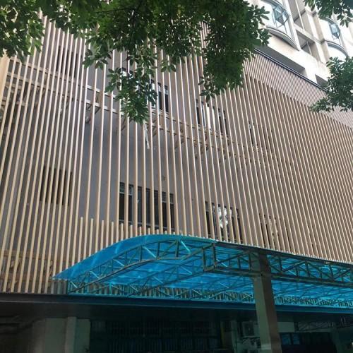 供应购物中心各种颜色外墙铝格栅