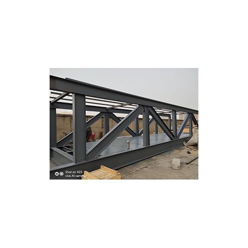 钢结构安装~福鑫腾达彩钢厂家订制钢结构连廊