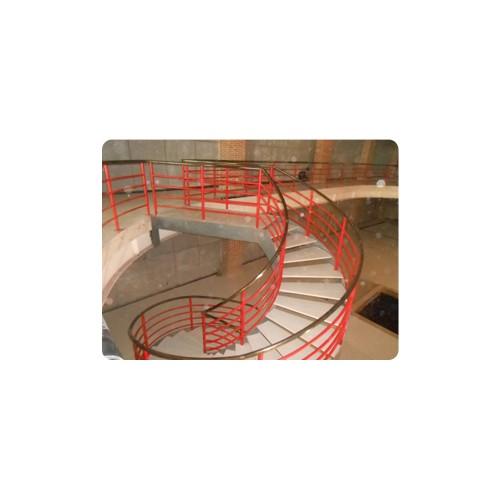 河北钢结构设计安装批发厂家_福鑫腾达彩钢厂家订做钢结构楼梯