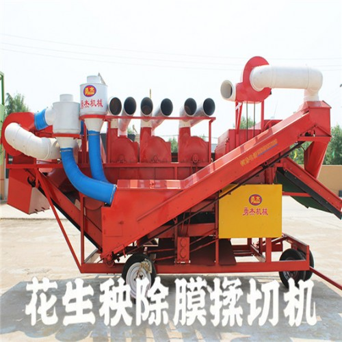 除膜机 秸秆饲料揉丝机 大型花生秧除膜粉碎机厂家