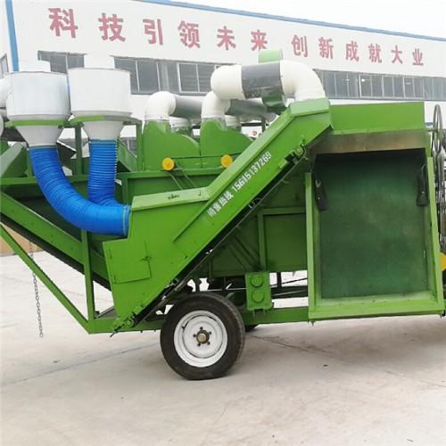 侧上料秸秆饲料除膜机厂家 拖拉机带东除膜揉切机