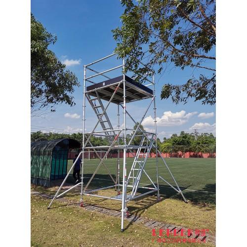 球场训练专用 登高拍景 铝合金脚手架快装型 可移动